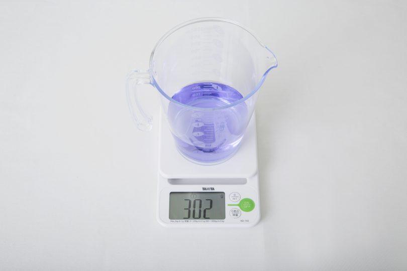 再び水量を計測する
