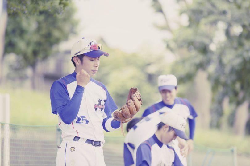 先輩に誘われて始めた野球