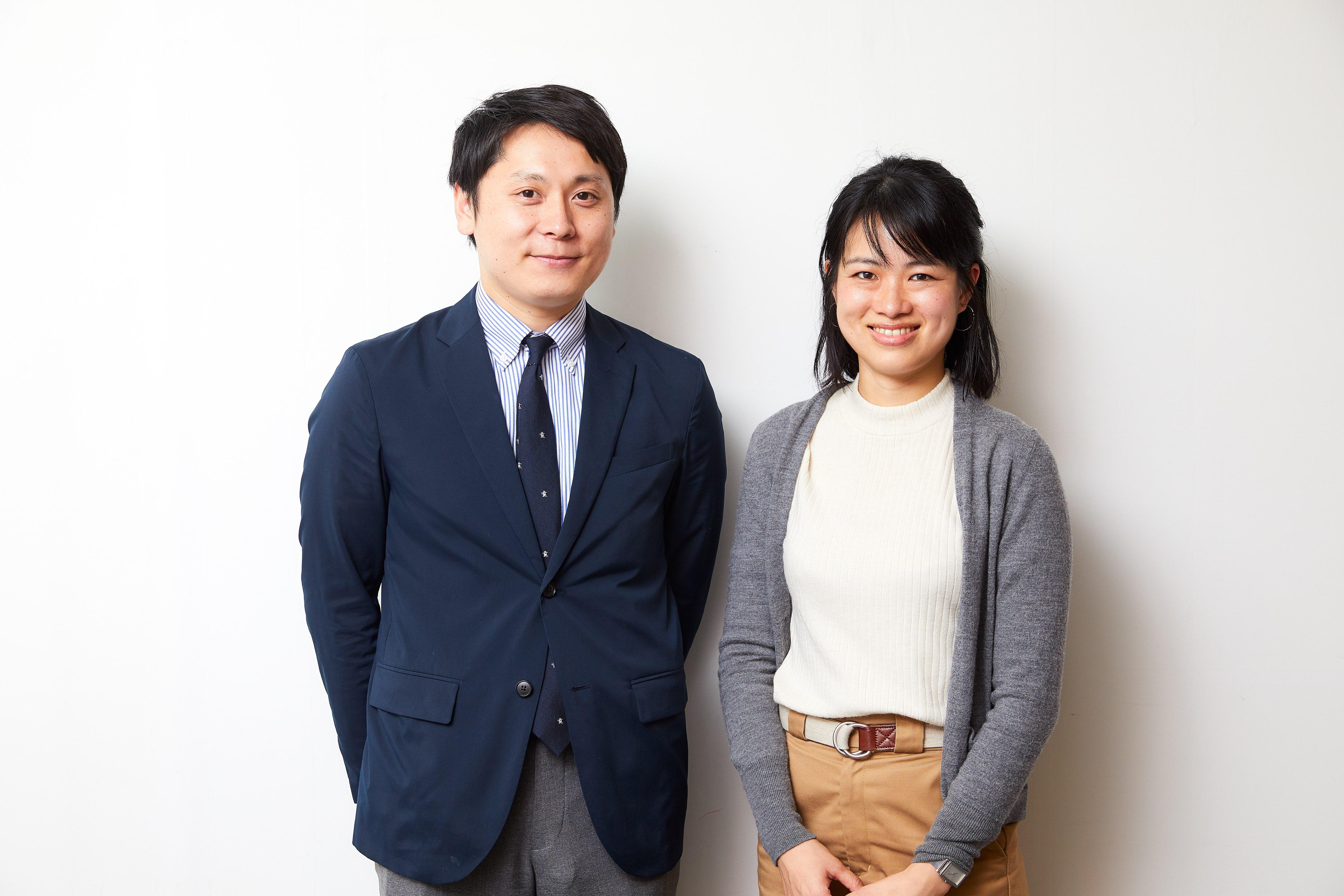 (左)池田奨 (右)池田夏美