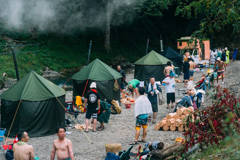 山梨県小菅村で行われた「Sauna Camp Festival」