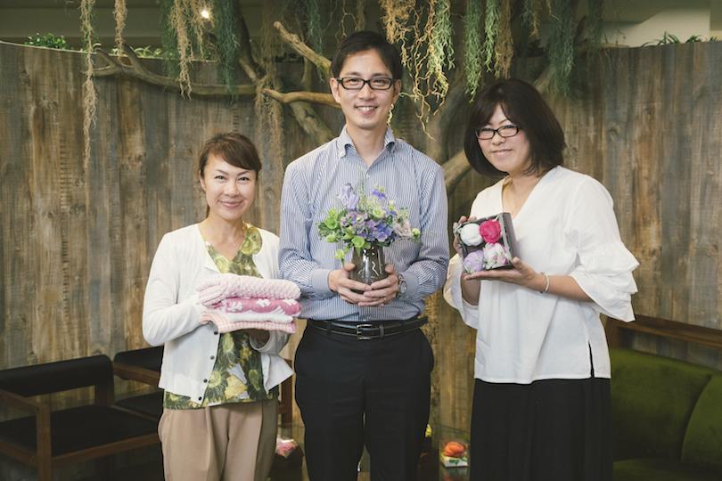 <ローズガーデン>を共同開発!日比谷花壇のフローリストにぴったりのタオルをオススメします!