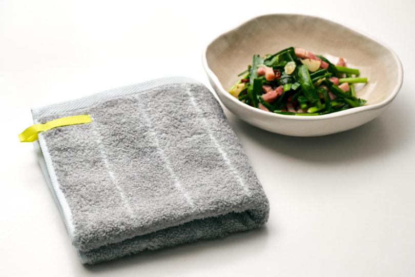 部屋干し臭を抑える特殊な糸を使ったタオル。