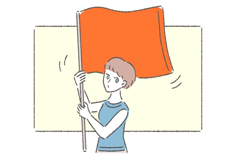 目立つ色のタオルは、居場所を知らせるためのフラッグになったり、避難所で目印になったりもします。