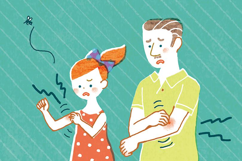 免疫との関係で、赤ちゃんとお年寄りでは蚊に刺されたときの反応が異なる。